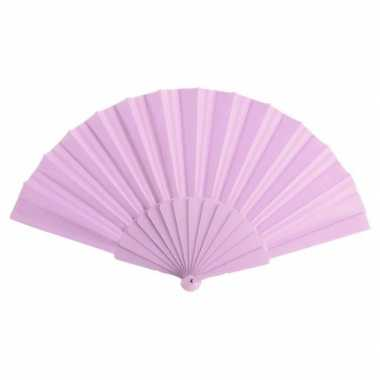 Goedkope spaanse handwaaier licht roze
