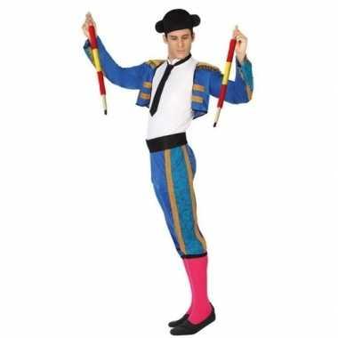 Goedkope spaanse matador/stierenvechter verkleed kostuum heren