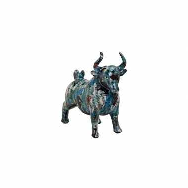 Goedkope spaarpot blauwe stier muzieknoten