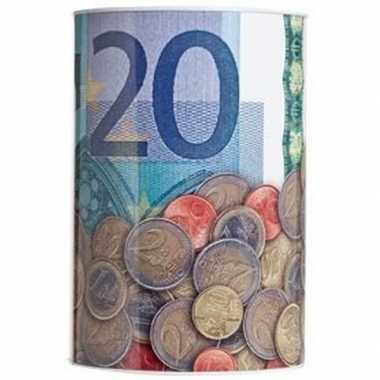 Goedkope spaarpot euro biljet