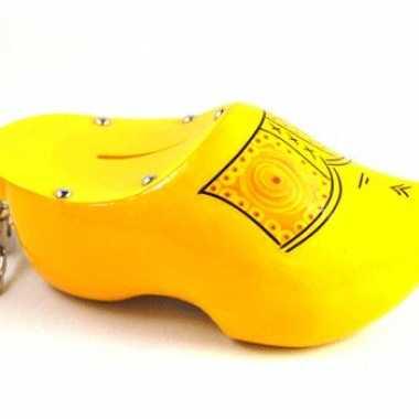 Goedkope spaarpot klomp geel