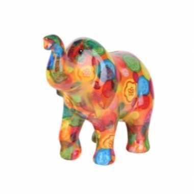 Goedkope spaarpot olifant oranje bloemen