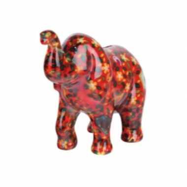 Goedkope spaarpot olifant rood bloemen