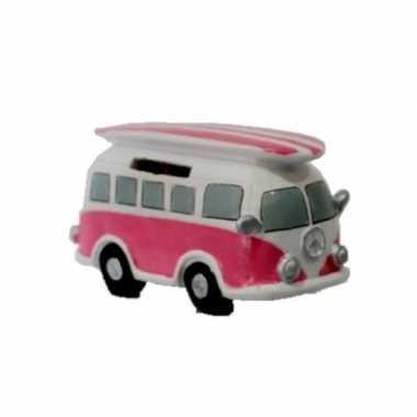 Goedkope spaarpot roze volkswagen bus