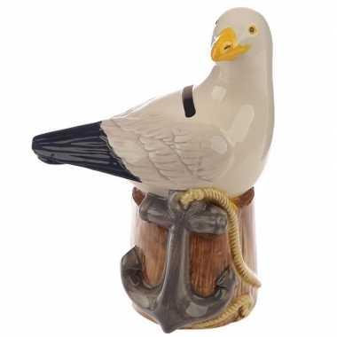 Goedkope spaarpot vogel beeldje zeemeeuw