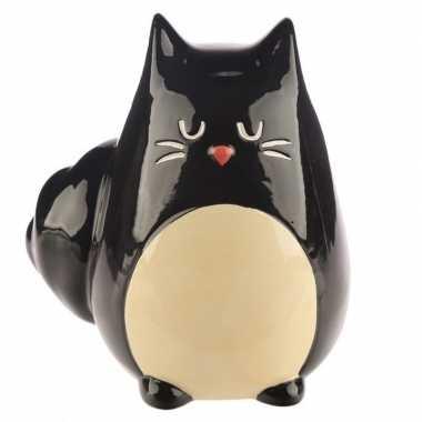 Goedkope spaarpot zwarte kat/katten beeldje