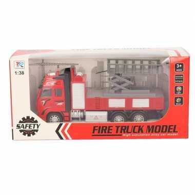 Goedkope speelgoed auto brandweerwagen hoogwerker