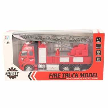 Goedkope speelgoed auto brandweerwagen/ladderwagen