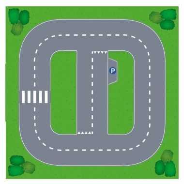 Goedkope speelgoed autowegen stratenplan wegplaten basis set karton