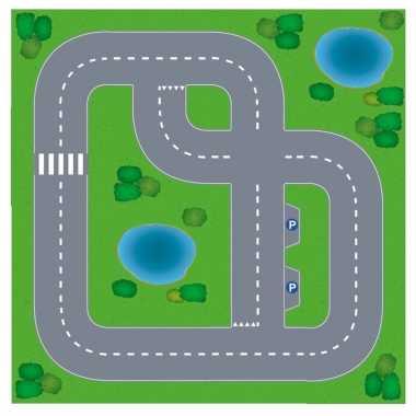 Goedkope speelgoed autowegen stratenplan wegplaten dorpje set karton