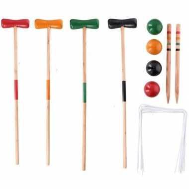 Goedkope speelgoed croquet set hout