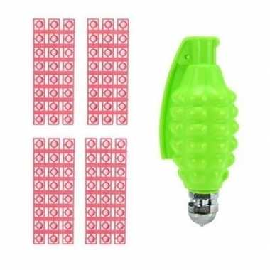 Goedkope speelgoed handgranaat plaffertjes schoten groen