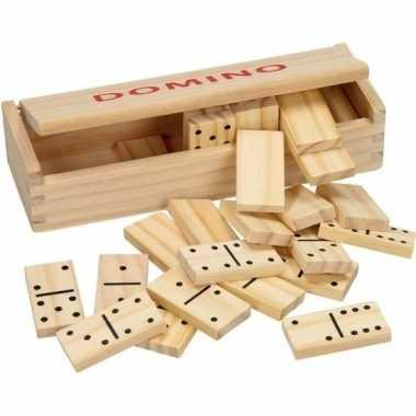 Goedkope speelgoed houten domino spel kistje