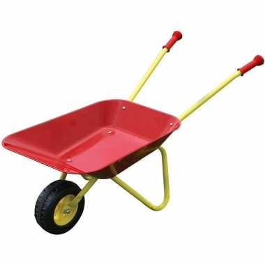 Goedkope speelgoed kruiwagen rood/geel kinderen