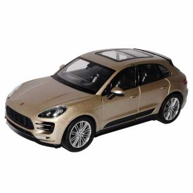 Goedkope speelgoed metallic beige porsche macan turbo auto