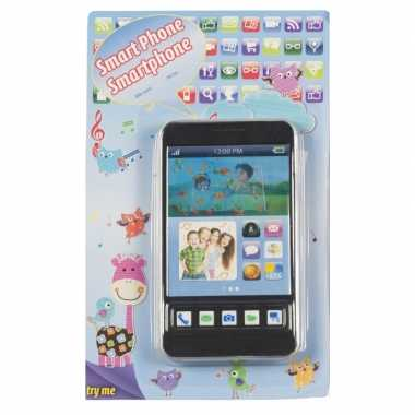 Goedkope speelgoed mobiele telefoon zwart