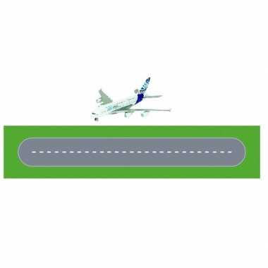 Goedkope speelgoed vliegveld landingsbaan wegplaten set karton airbus