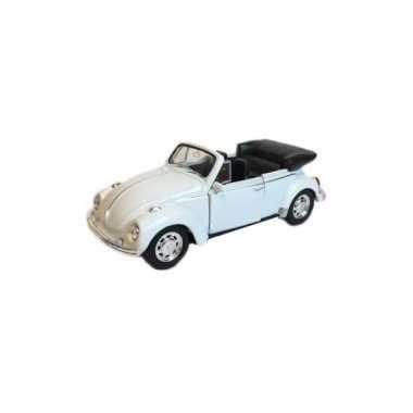 Goedkope speelgoed volkswagen kever witte cabrio auto