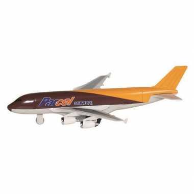 Goedkope speelgoed vracht vliegtuig bruin