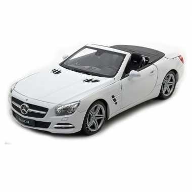Goedkope speelgoed witte mercedes benz sl open cabrio :