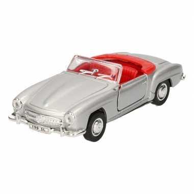 Goedkope speelgoed zilveren mercedes benz sl cabrio auto