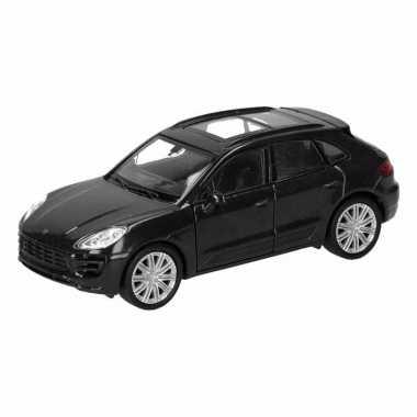 Goedkope speelgoed zwarte porsche macan turbo auto