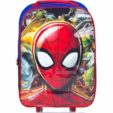Goedkope spiderman handbagage reiskoffer/trolley kinderen