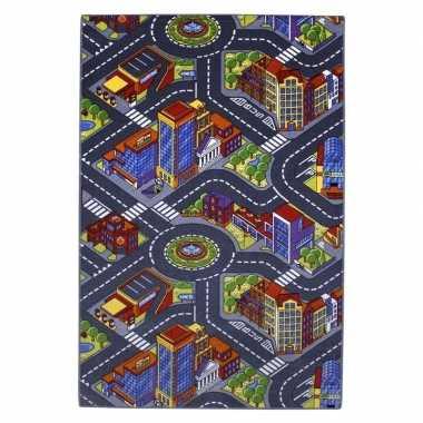 Goedkope stad speelkleed gebouwen wegen