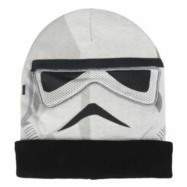 Goedkope star wars stormtrooper masker/muts jongens
