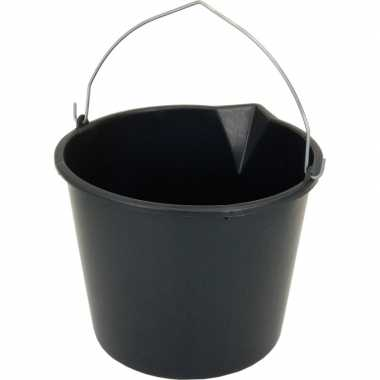 Goedkope stevige huishoud emmer liter tuit