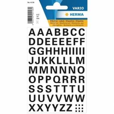 Goedkope stickervel letters zwart mm x 10079178