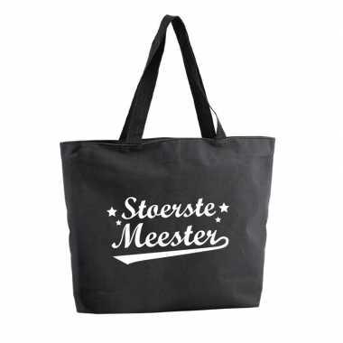 Goedkope stoertse meester shopper cadeau tas zwart