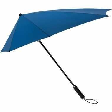 Goedkope stormaxi storm paraplu kobaltblauw windproof