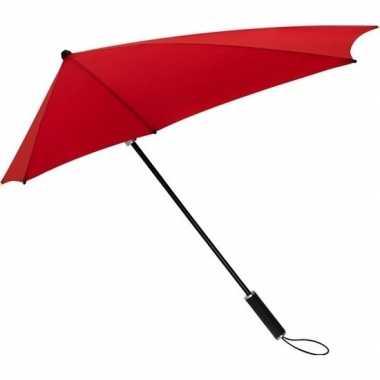 Goedkope stormaxi storm paraplu rood windproof