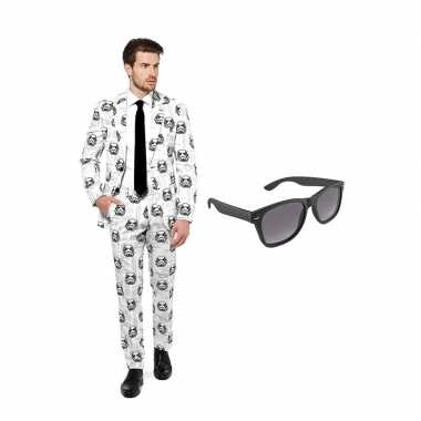 Goedkope stormtrooper heren kostuum maat (xl) gratis zonnebril
