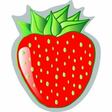 Goedkope strandlaken/badlaken aardbei strawberry