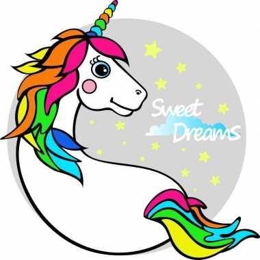 Goedkope strandlaken/badlaken eenhoorn/unicorn licorne