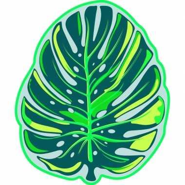 Goedkope strandlaken/badlaken monstera/tropisch blad foglia