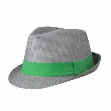 Goedkope street style trilby hoedje grijs groen