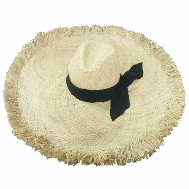 Goedkope stro strandhoed/zonnehoed ibiza style geba dames