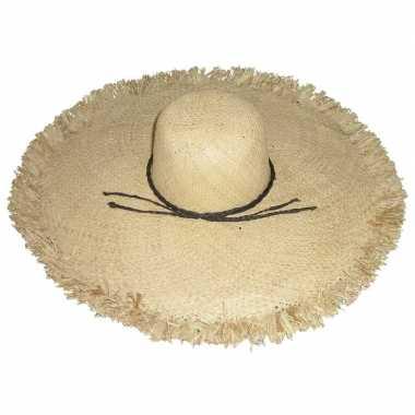 Goedkope stro strandhoed/zonnehoed ibiza style saba dames