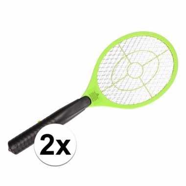 Goedkope stuks elektrische vliegenmeppers groen