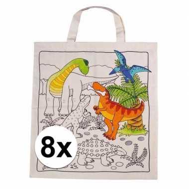 Goedkope stuks inkleurbaar tasjes dinosaurus motief