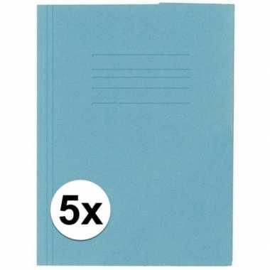 Goedkope stuks kangaro dossiermap blauw