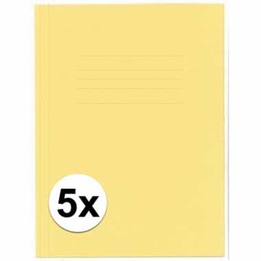Goedkope stuks kangaro dossiermap geel