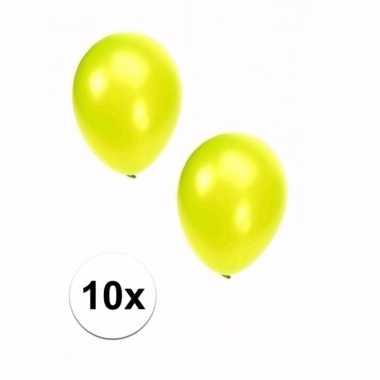 Goedkope stuks metallic lime ballonnen