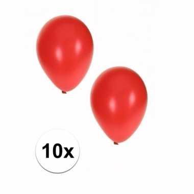 Goedkope stuks metallic rode ballonnen
