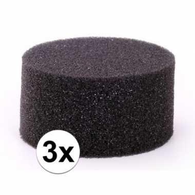 Goedkope stuks zwarte schmink / make up sponsjes rond