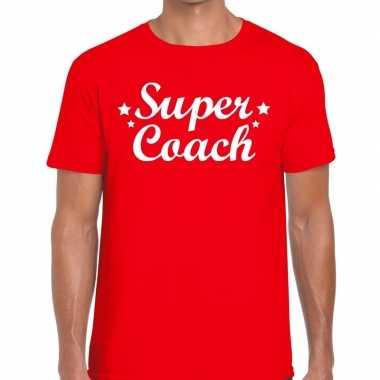 Goedkope super coach cadeau t shirt rood heren