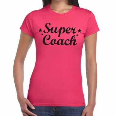 Goedkope super coach cadeau t shirt roze dames